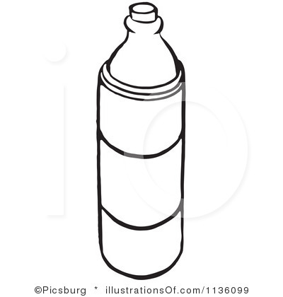 400x420 Water Bottle Clipart Black And White Clipart Panda