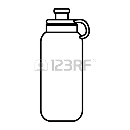 450x450 Water Bottle Object ,isolated Black And White Flat Icon Design