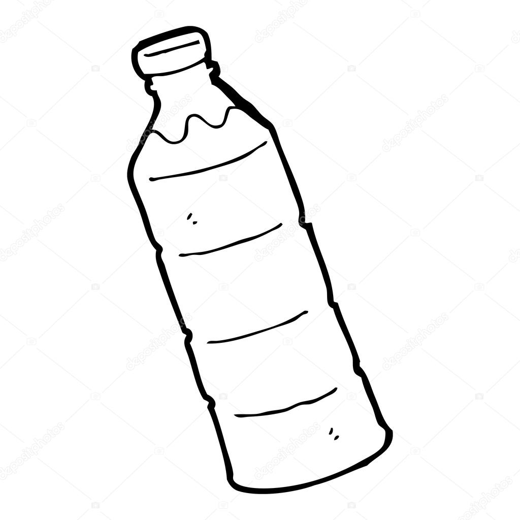 1024x1024 cartoon water bottle — Stock Vector © lineartestpilot