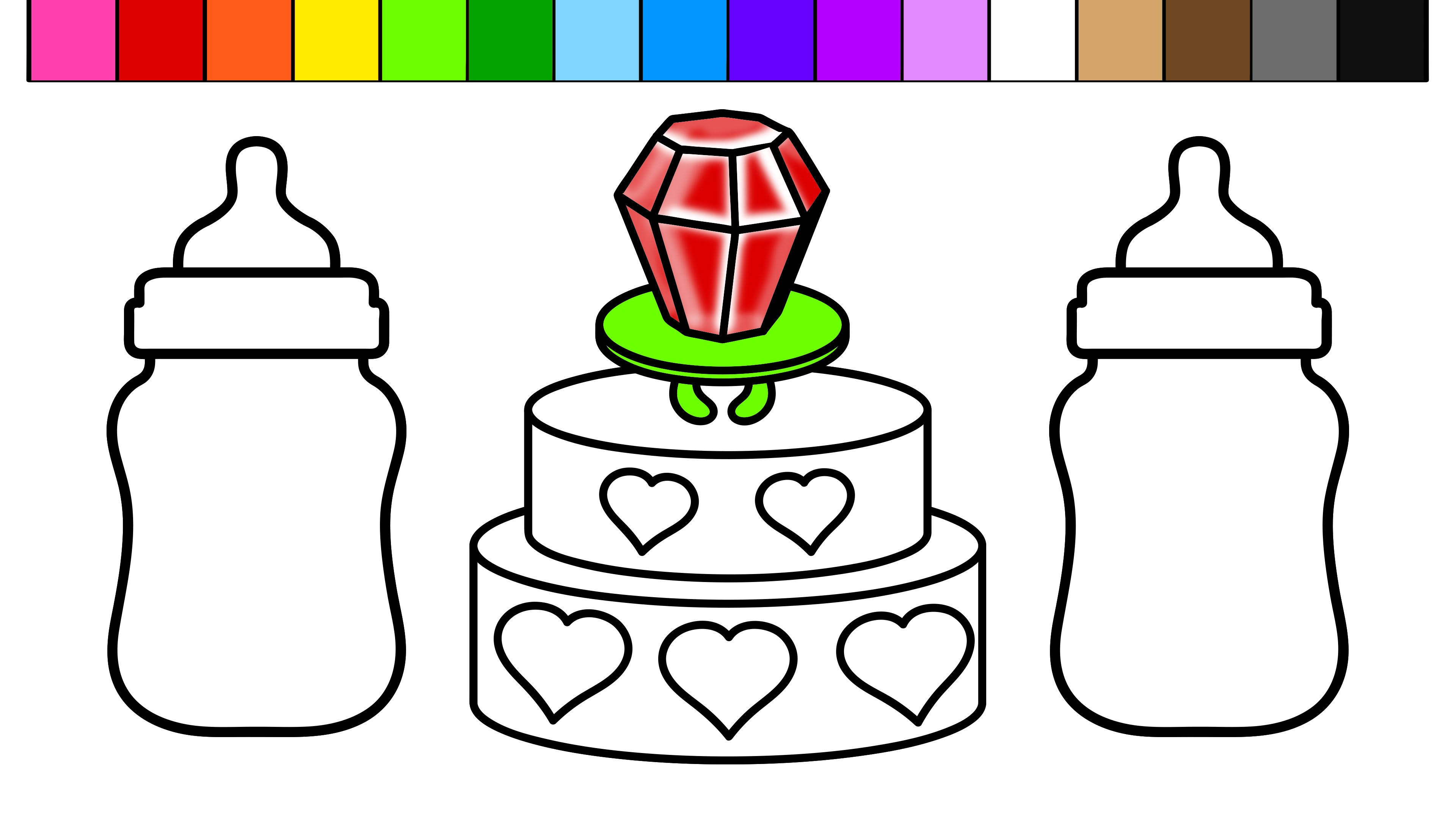 3840x2160 Learn Colors For Kids And Color This Ring Pop Heart Birthday Cake