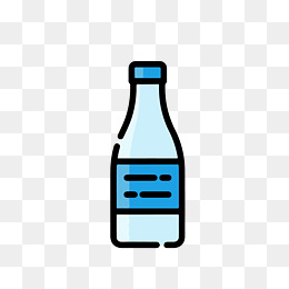 260x260 Vector Diagram Of Mineral Water Bottles, Cup, Blue, Bottle Png