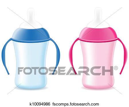 450x373 Clip Art Of Baby Bottle Feeding K10094986