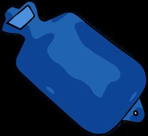 292x267 Free Blue Hot Water Bottle Clip Art