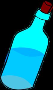 177x299 Glass Blue Bottle Full Of Water Clip Art