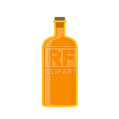 400x400 Old Glass Bottle With Spigot Free Vector Clip Art Image