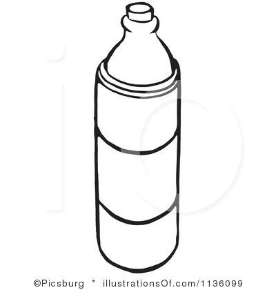 400x420 Black Amp White Clipart Bottle