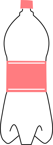 216x592 Pink Water Bottle Clip Art