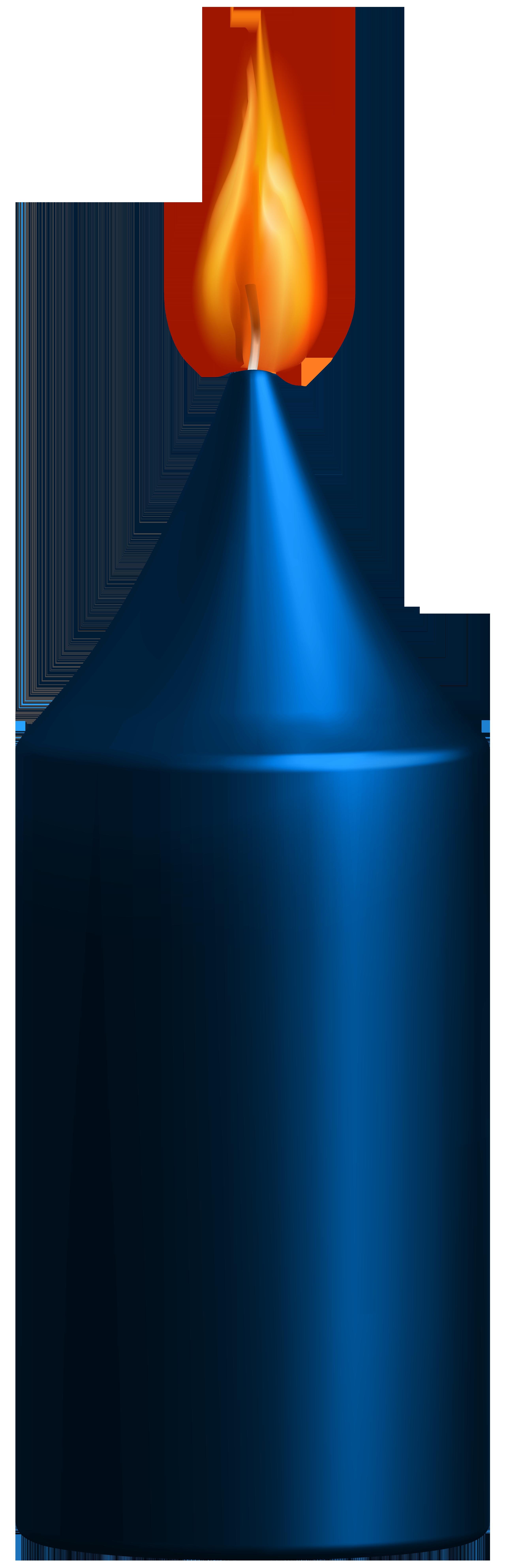 2568x7940 Blue Candle Png Clip Art