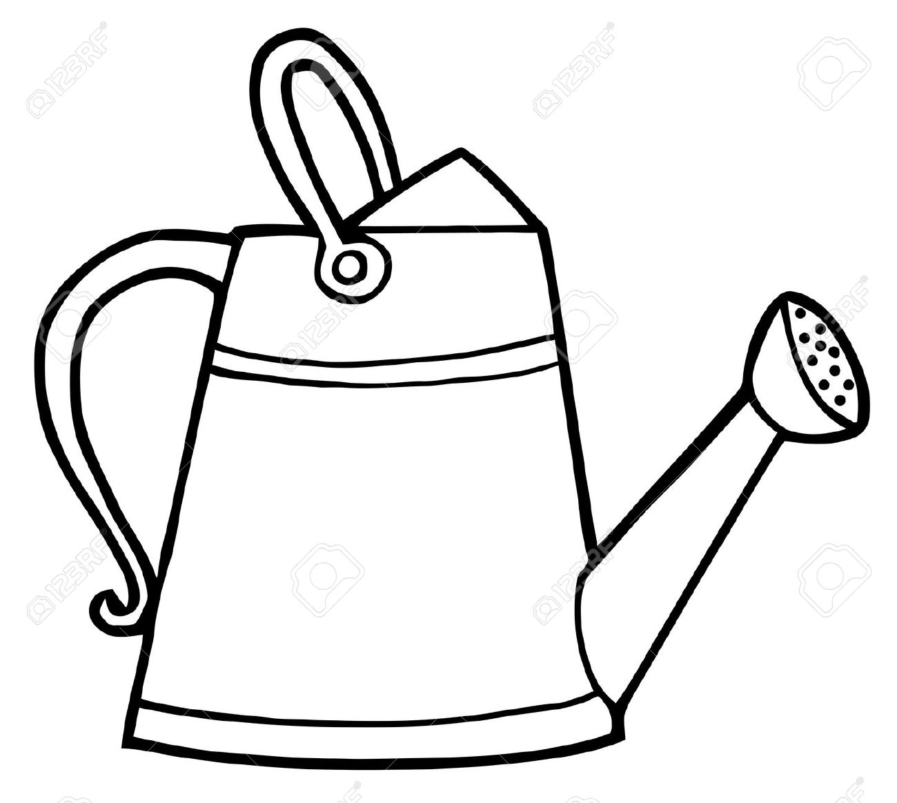 1300x1164 Coloring Pages Watering Can Murderthestout