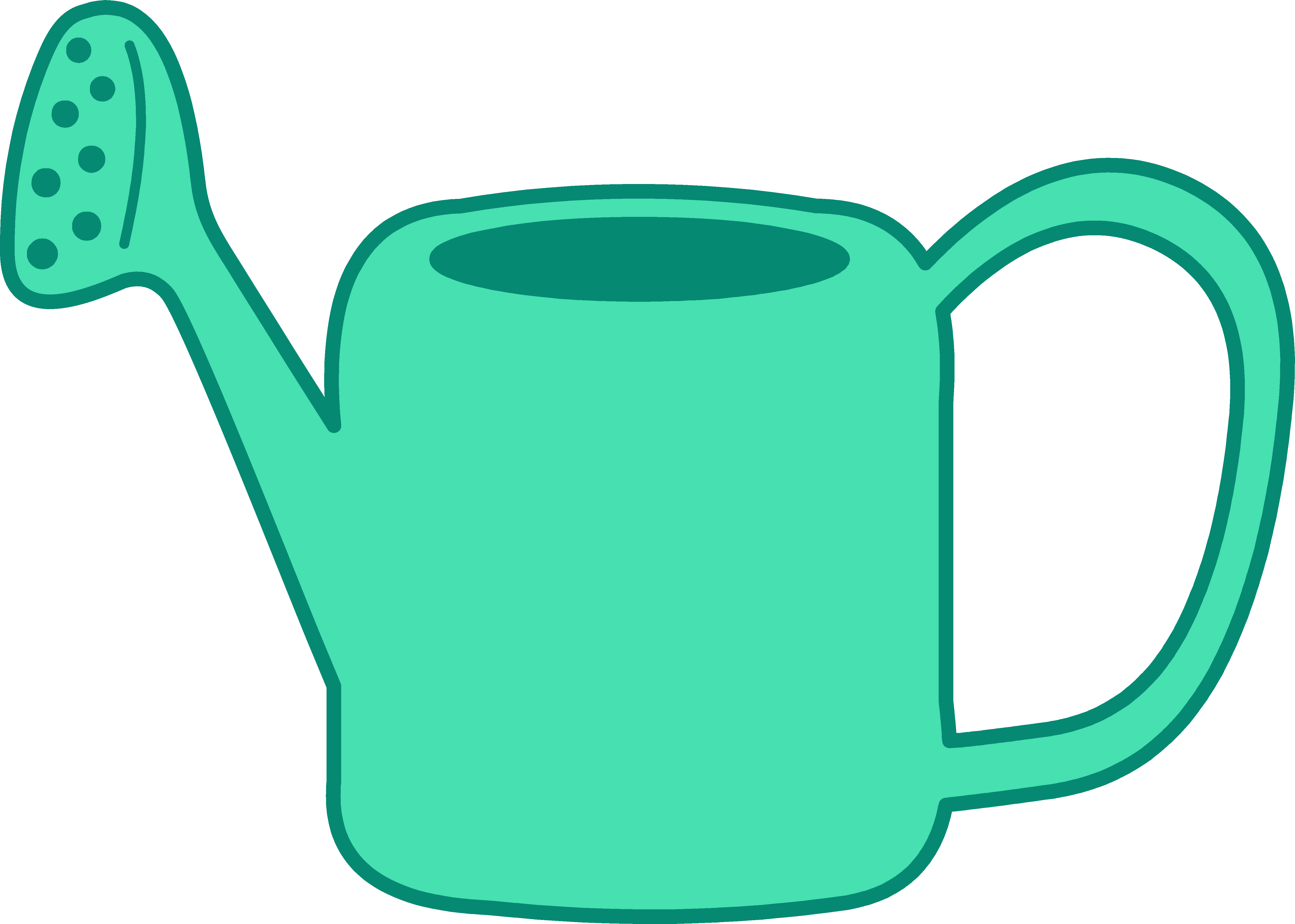 5473x3907 Green Watering Can Clipart
