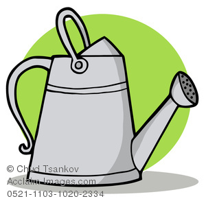 300x293 Image Of A Tall Metal Watering Can
