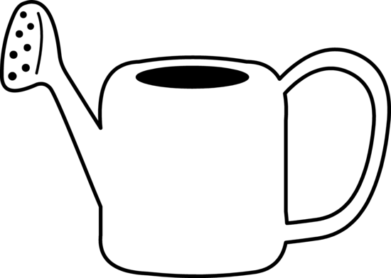 550x392 Watering Can Coloring Page
