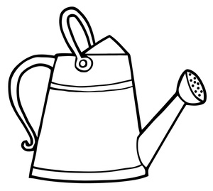 300x269 Watering Can Clip Art Free Clipart Images 7