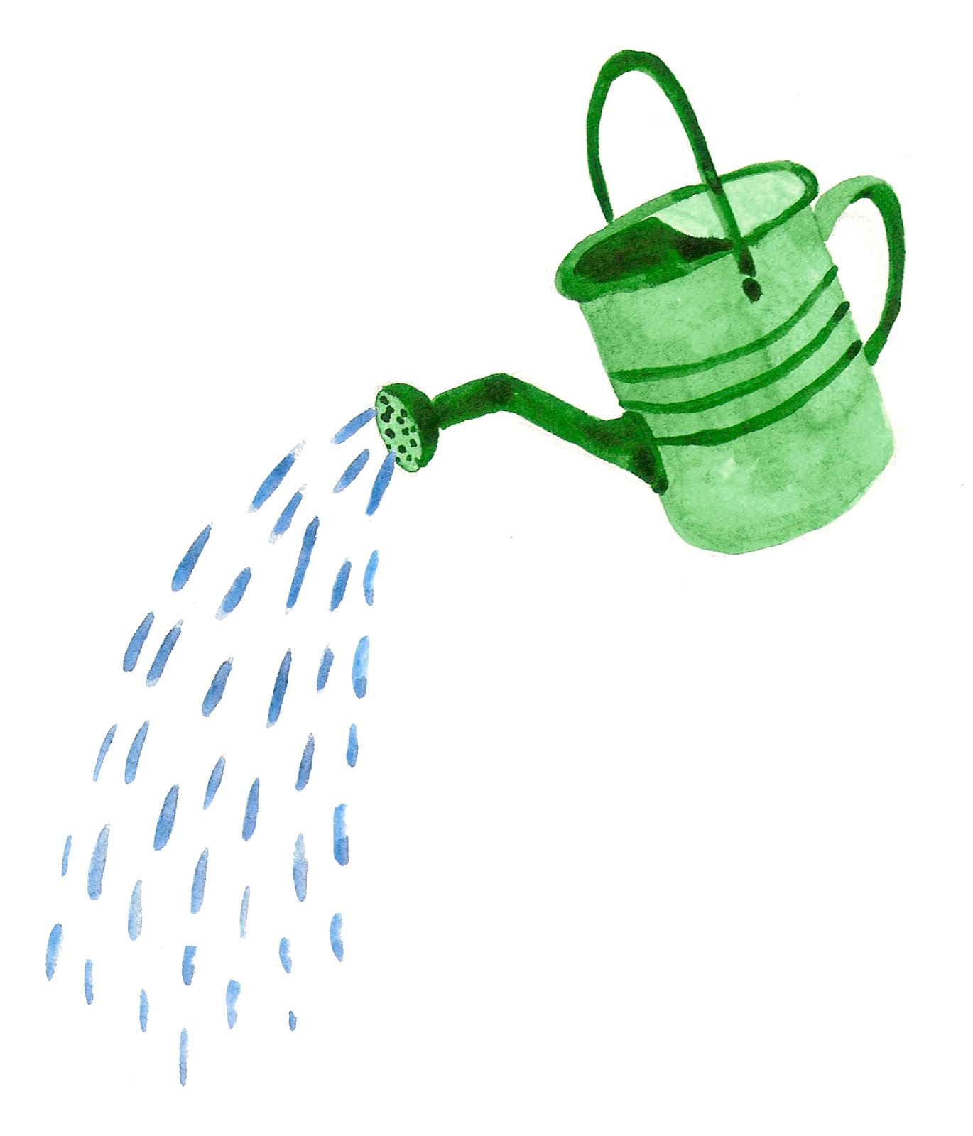 1370x1600 Watering Can Illustration Clipart 3
