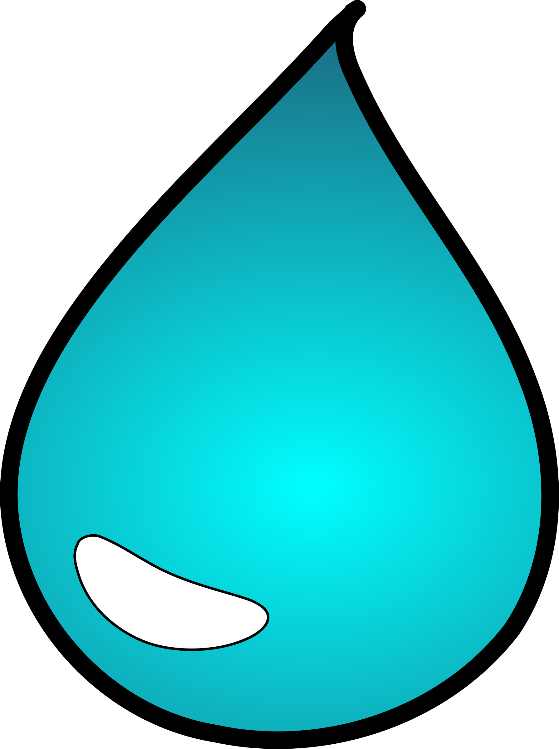 1791x2400 Clipart Water Drop