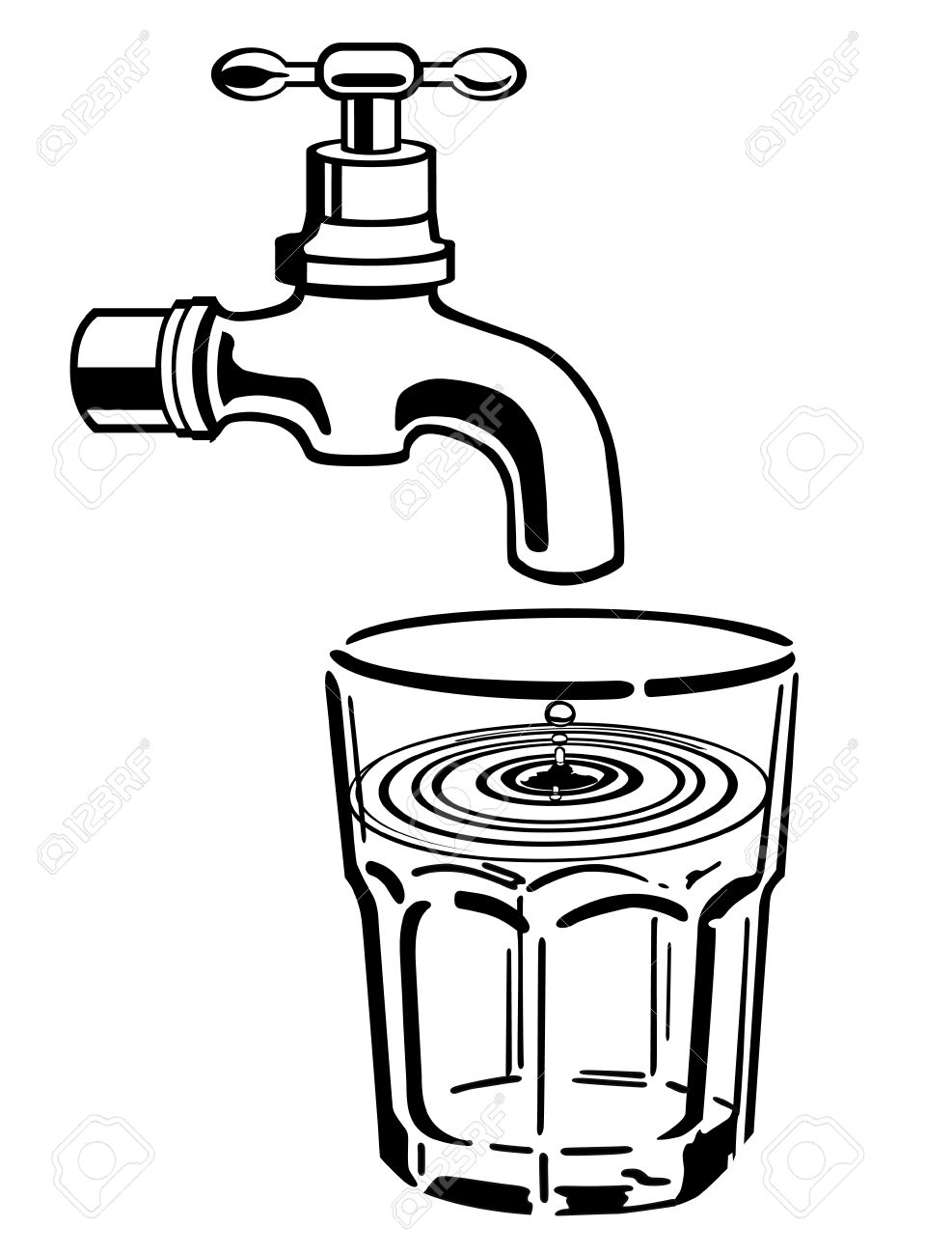 987x1300 Tap Water Clipart Black White Amp Tap Water Clip Art Black