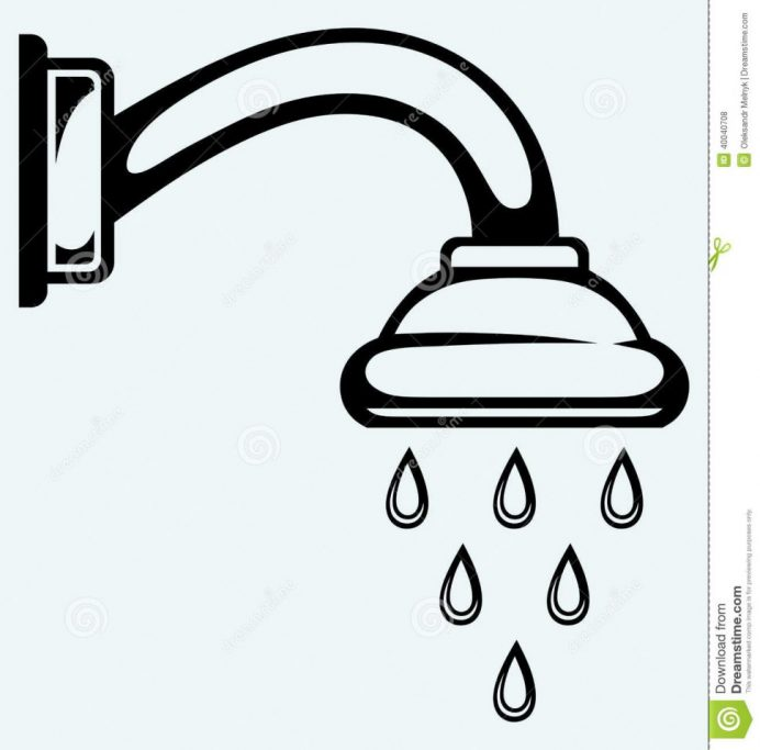 692x683 Bathroom Shower Head Clip Art Shower Head Clip Art Shower