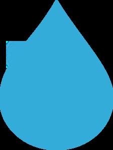 225x300 Blue Water Drop Clip Art