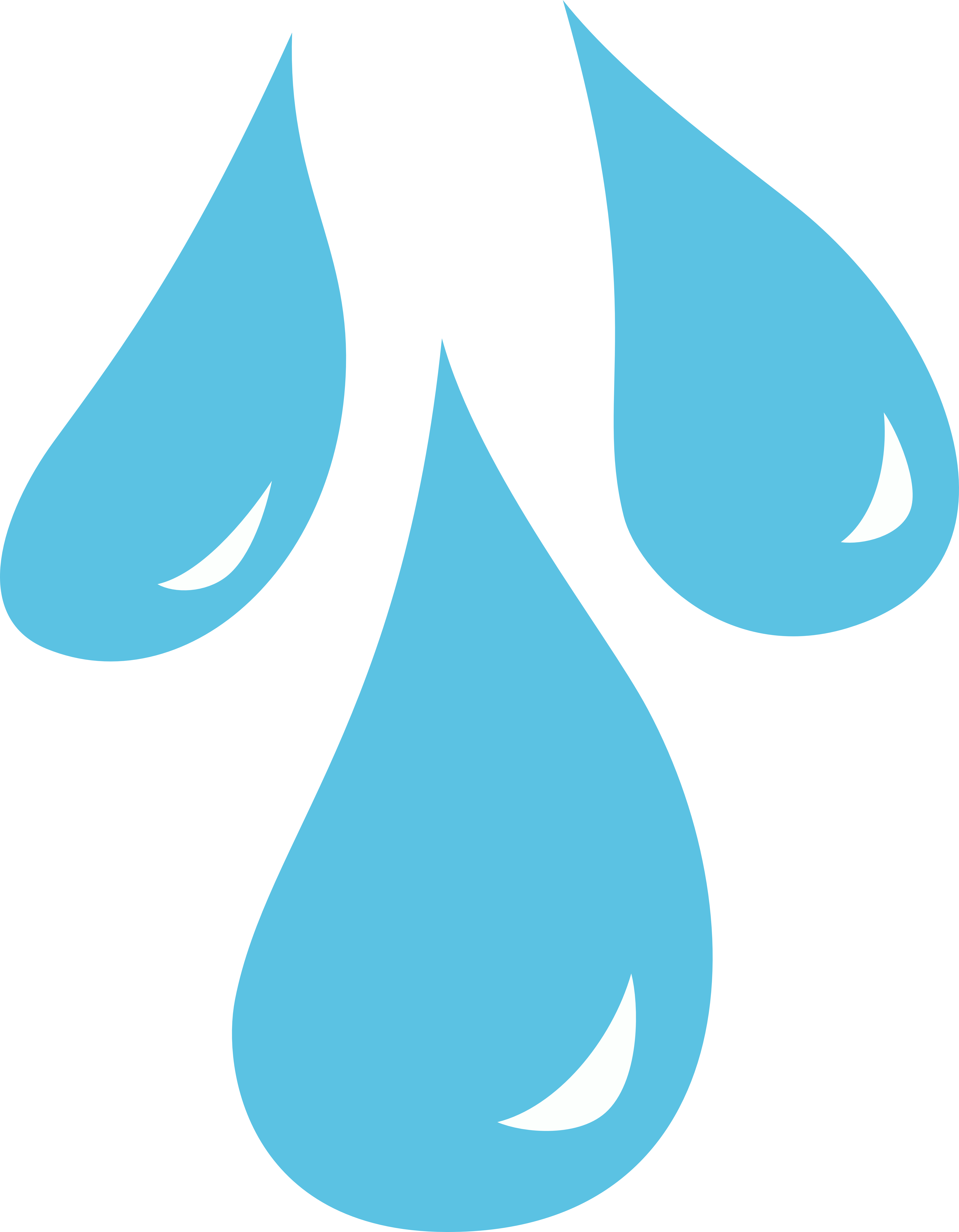 5000x6426 Water Drop Clipart Black And White Free