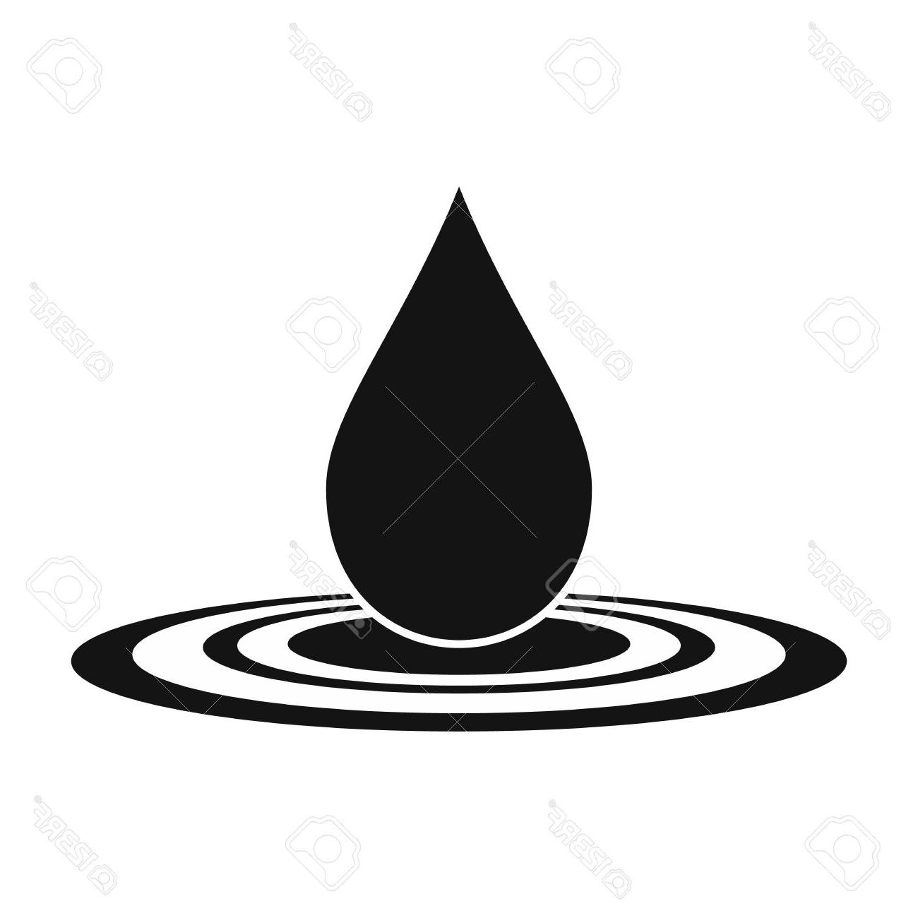 1300x1300 Unique Black And White Water Drops Vector File Free Free Vector