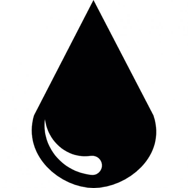 626x626 Water Drop Clipart Silhouette