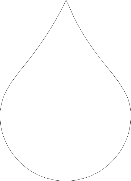 432x595 White Clipart Water Drop
