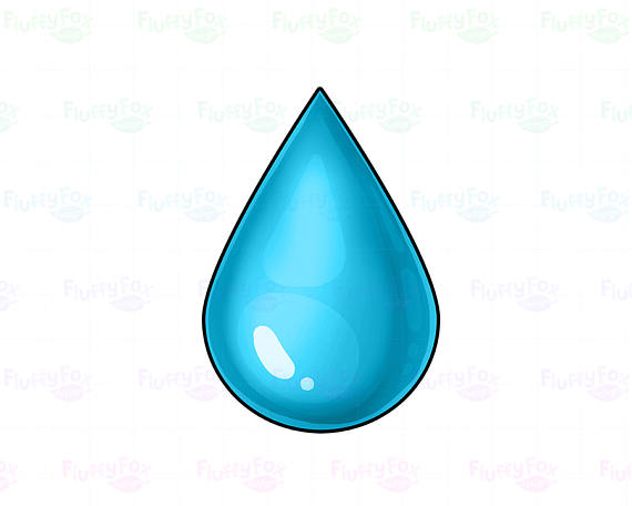 570x456 Water Drop Clipart, Water Droplet Clipart, Cute Rain Drop Colorful