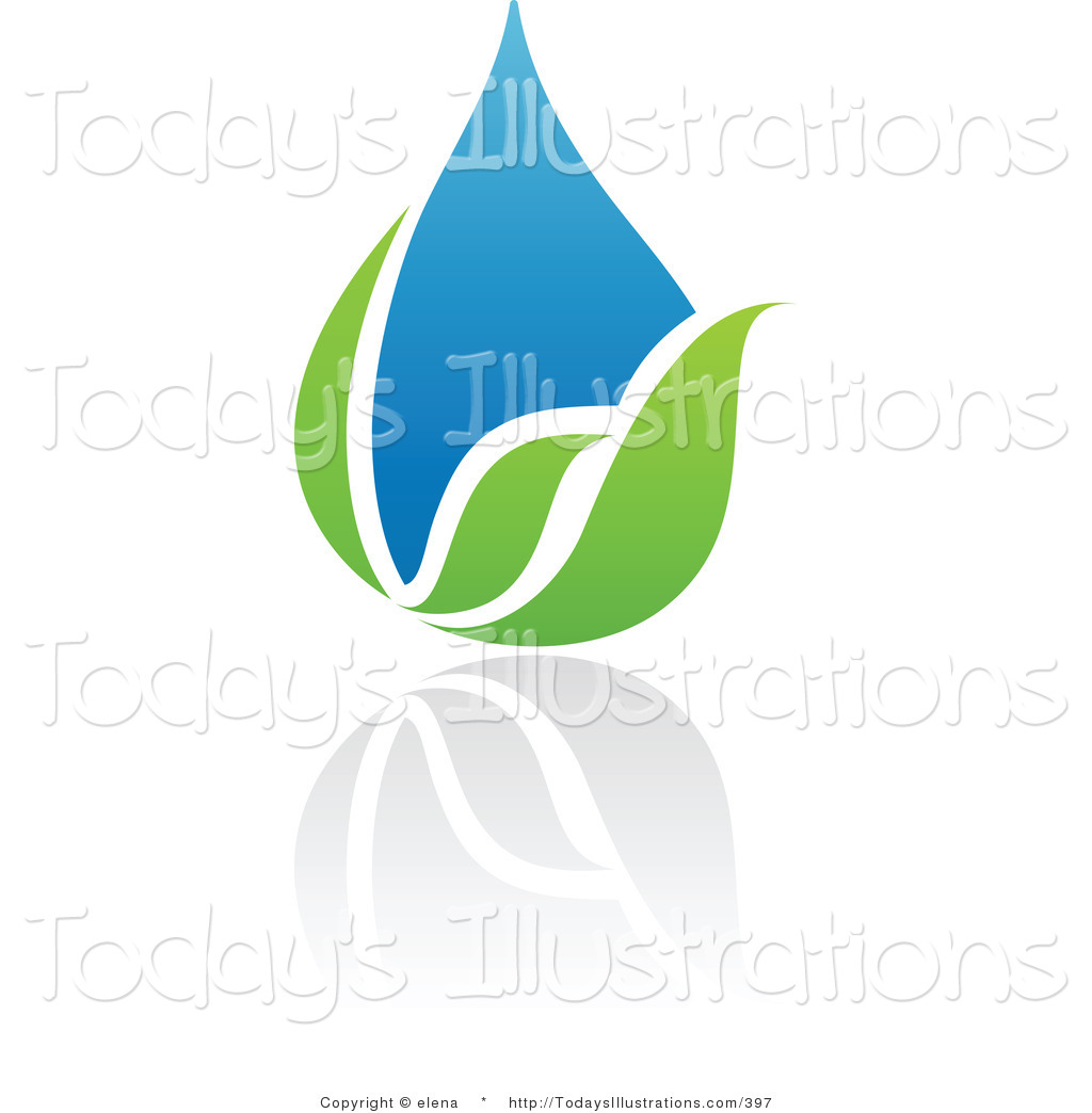 1024x1044 Clipart Of A Blue And Green Organic And Ecology Water Drop Logo