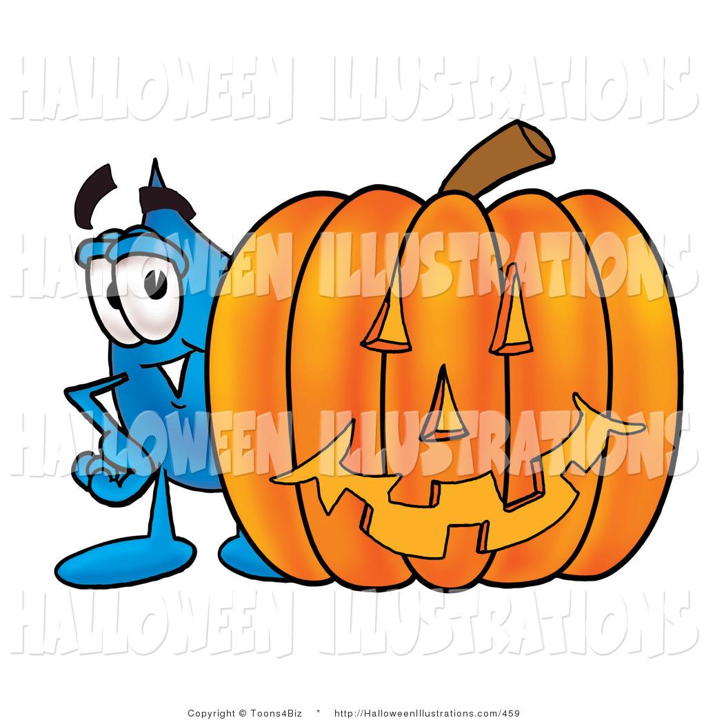 1024x1044 Halloween Clip Art Of A Happy Water Drop Mascot Cartoon Character