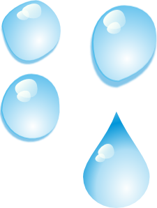 225x298 Set Of Water Drops Clip Art Free Vector 4vector