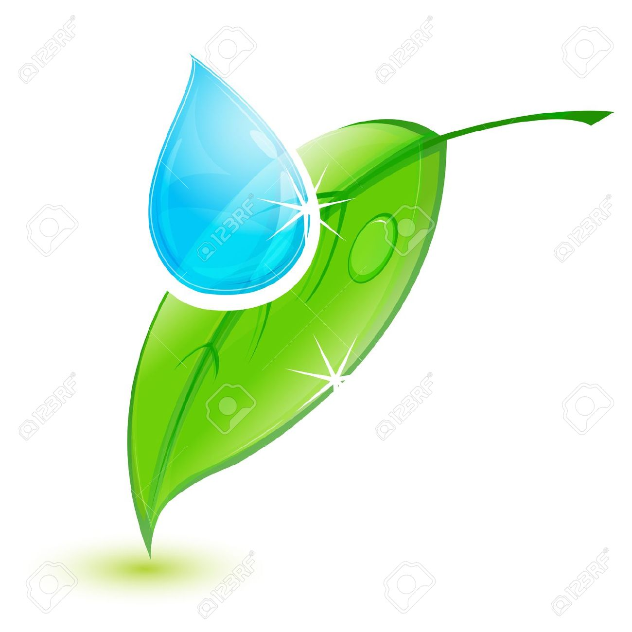 1300x1300 Water Drop Clipart Leaf