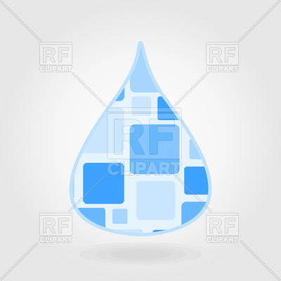 400x400 Water Drop Icon On Grey Background Royalty Free Vector Clip Art