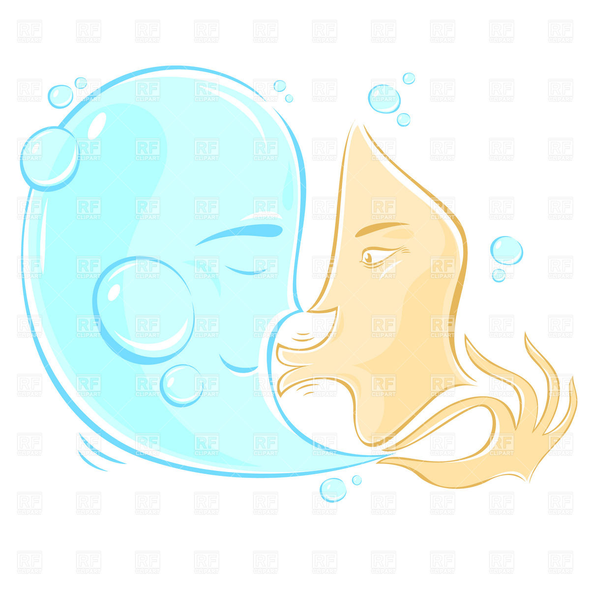 1200x1200 Woman's Face Kissing Water Drop