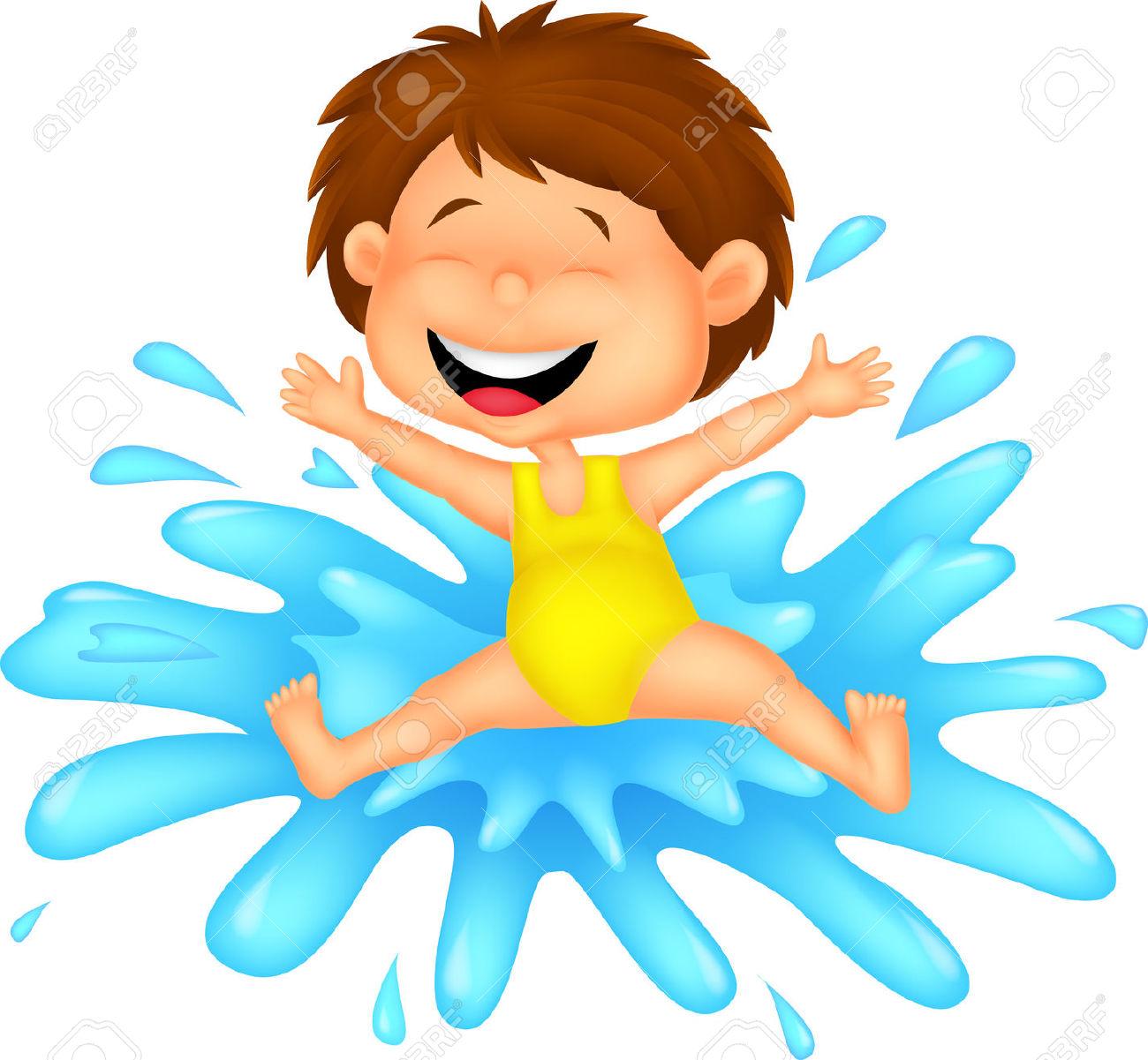 Water splash play. Fun clipart free download