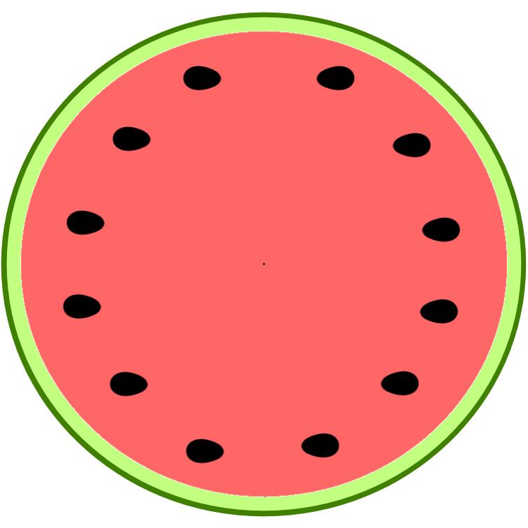 756x756 Watermelon Clipart Half Watermelon
