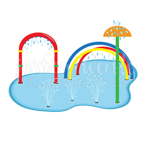 570x570 Splash Pad Clip Art Cute Digital Clipart Water Park Clip