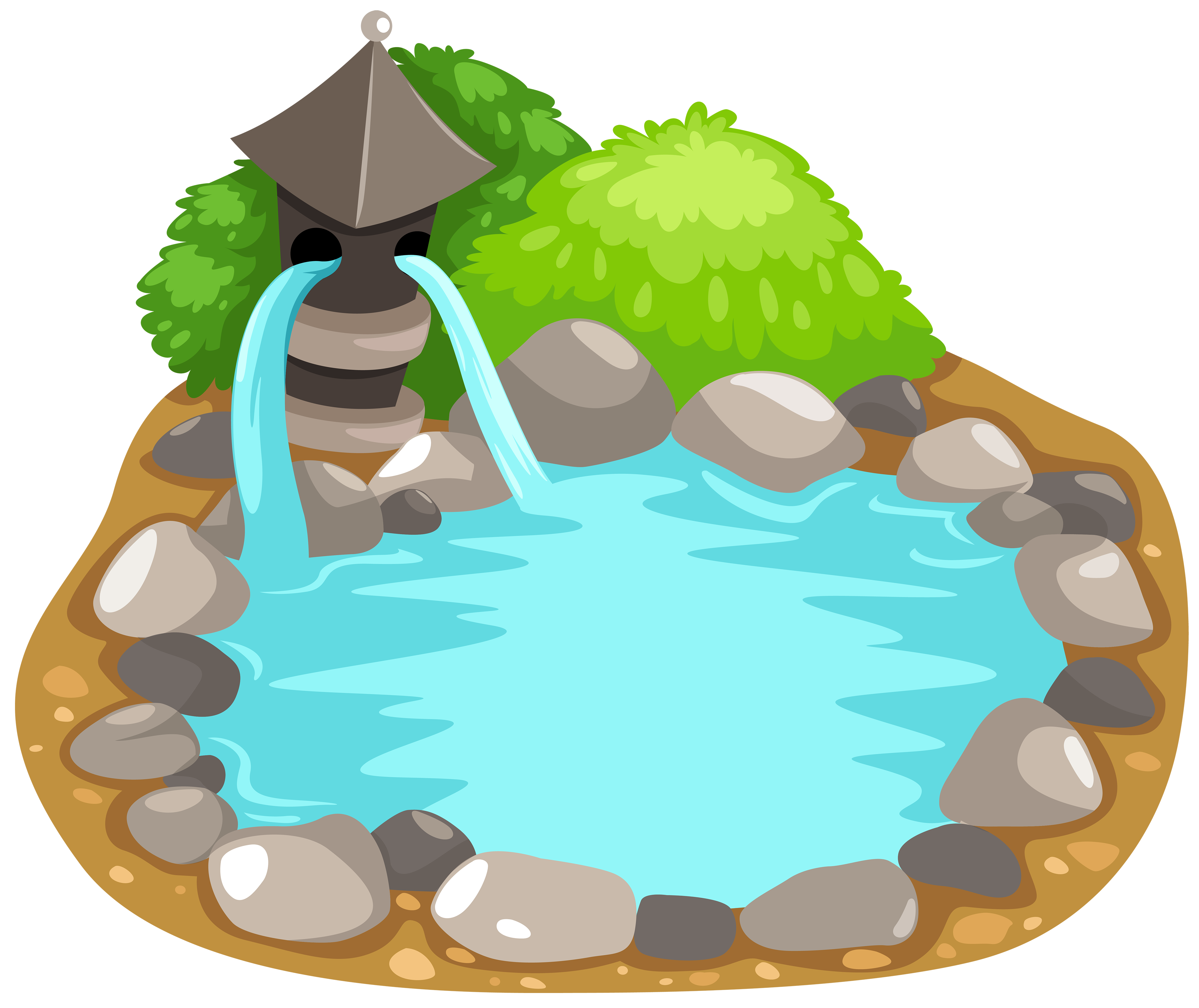 4000x3364 Top 87 Pond Clip Art
