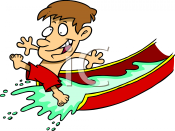 350x262 Water Park Slides Clipart