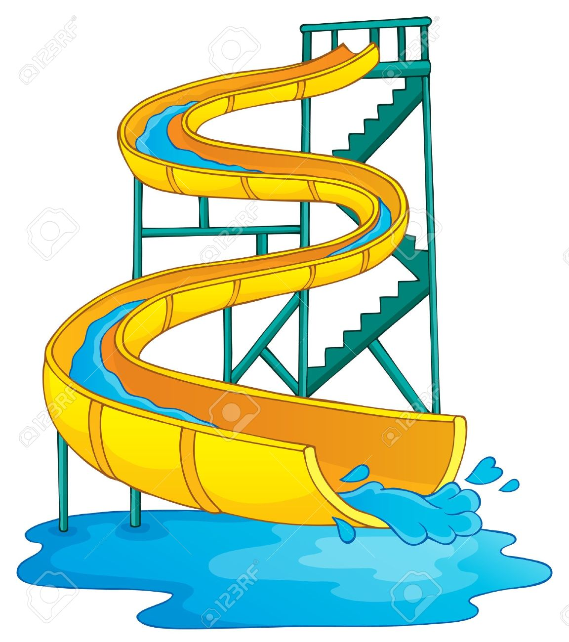 1152x1300 Amusement Park Clipart Chute