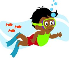 236x199 Girls Scuba Diving Cartoon Clipart