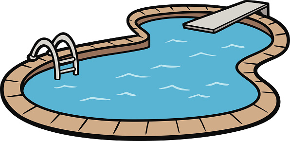 596x290 Swimming Pool Clipart With Water Slide Clipartfest