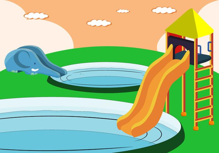 700x490 Vector Water Slide For Kids