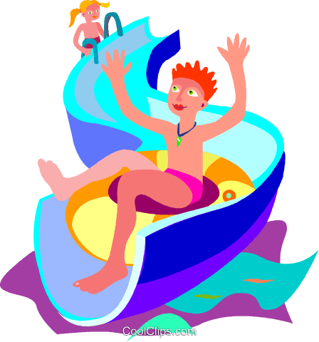 448x480 Slide, Swimming, Water, Summer Royalty Free Vector Clip Art