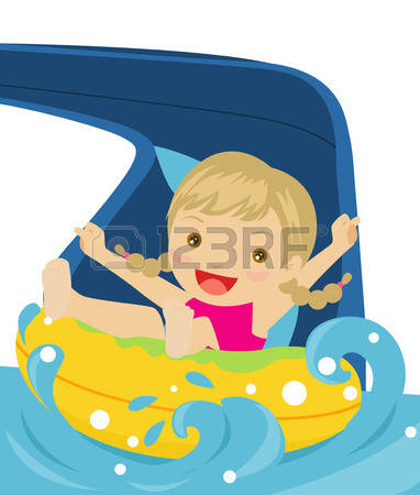 382x450 Slide With Girl Clipart