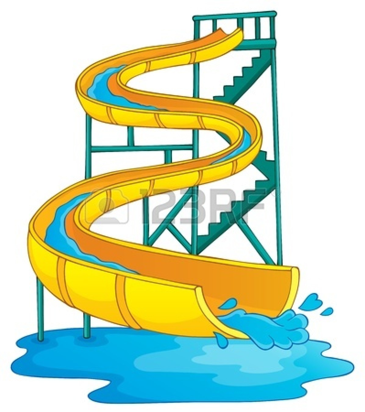 1197x1350 Inflatable Water Slide Clipart Clipart Panda