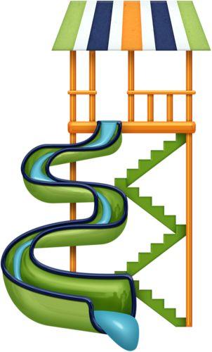 302x500 Water Slide Clip Art Summer Clipart