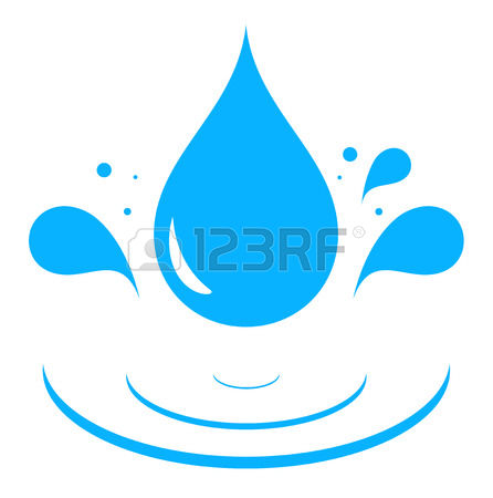 446x450 Water Droplet Splash Clipart