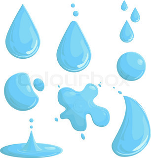306x320 Water Splash Background.vector Blue Illustration For Text Stock