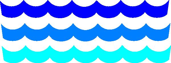 600x222 Line Clipart Ocean Wave