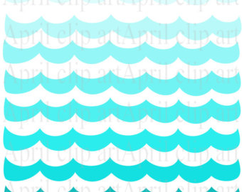 340x270 Ombre Ocean Waves Clip Art – Cliparts